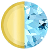Solid 14K Gold|Aquamarine Swatch