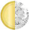 April Solid 14K Gold|Natural Crystal Swatch