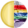 Gold|Rainbow Diamondettes Swatch