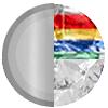 Silver|Rainbow Diamondettes Swatch