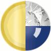Gold|Navy|White Diamondettes Swatch