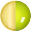 Gold|Neon Yellow|White Diamondettes Swatch