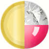 Gold|Neon Pink|White Diamondettes Swatch