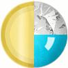 Gold|Blue|White Diamondettes Swatch