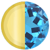 December Gold|Blue Topaz Swatch