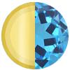 Gold|Light Blue Swatch