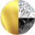 Gold/Black Diamondettes/White Diamondettes Swatch