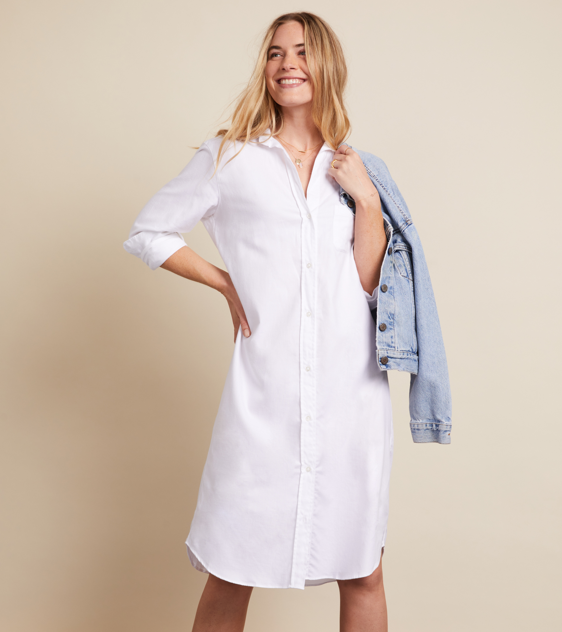 Image of The Hero Midi Dress White, Feathered Flannel