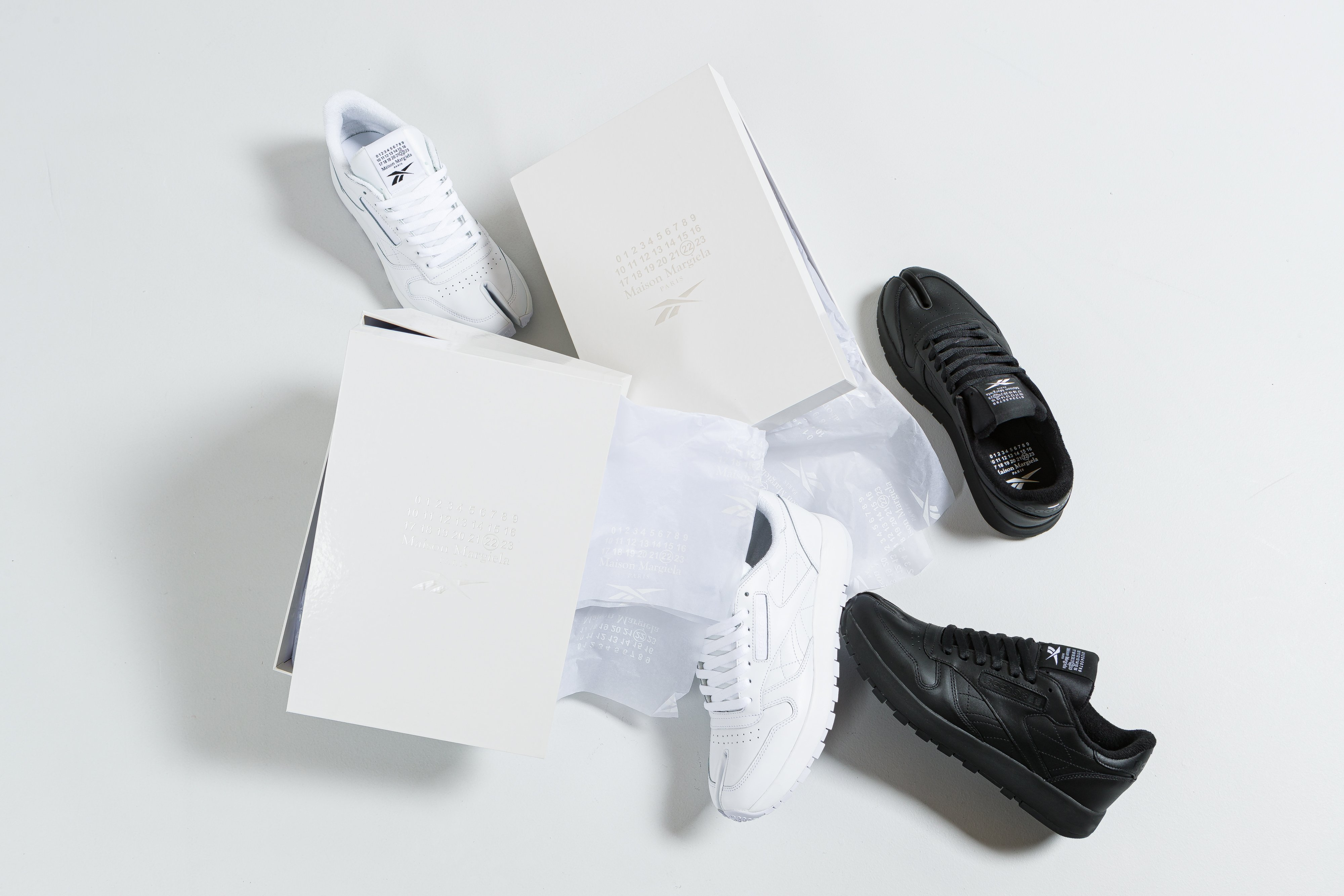 Up There Launches - Reebok Classics X Maison Martin Margiela 'Project 0' CL Leather Tabi