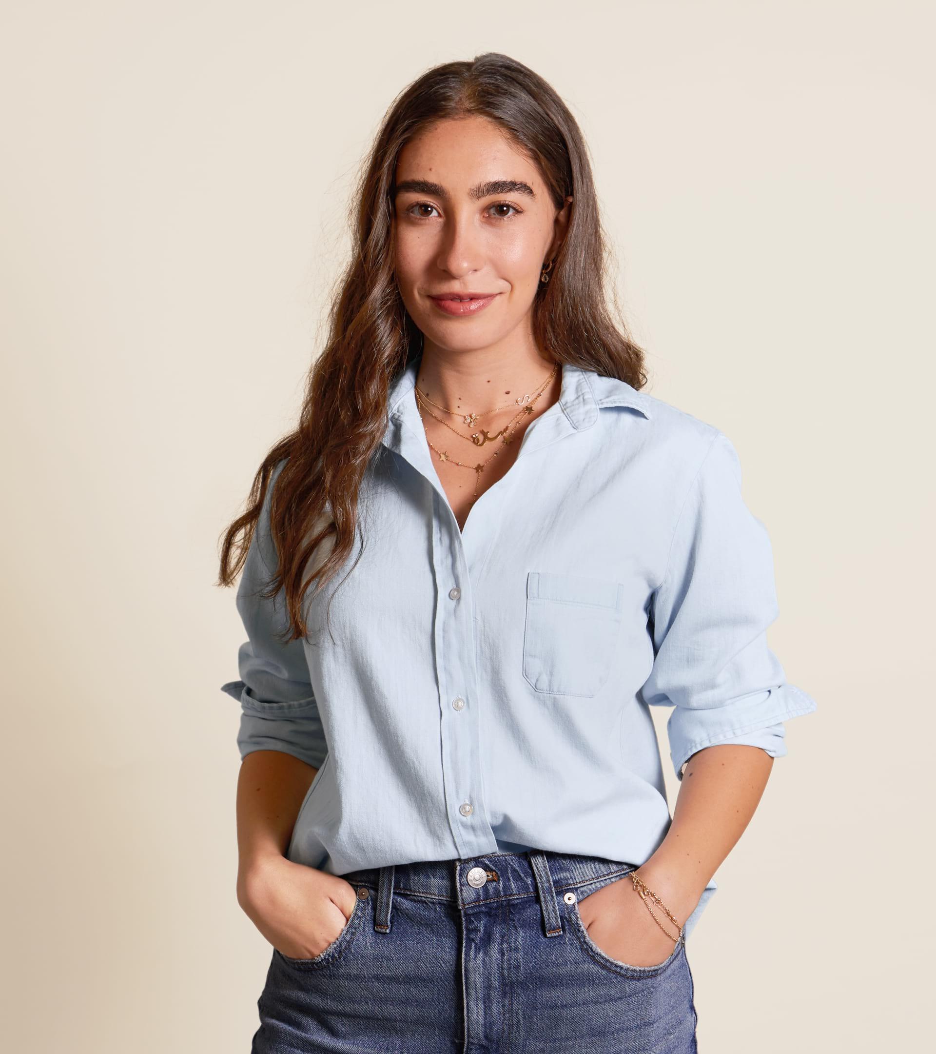 The Hero Button-Up Shirt Light Wash, Cotton Denim view 1