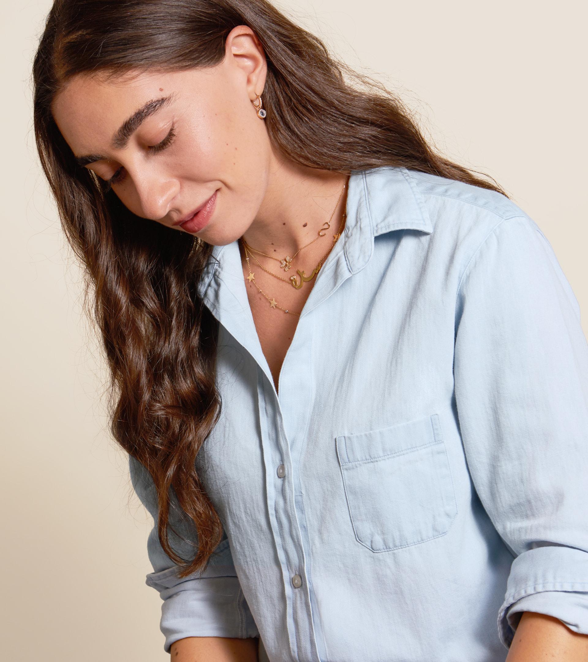 The Hero Button-Up Shirt Light Wash, Cotton Denim view 2