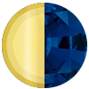 Gold|Blue Diamonettes Swatch