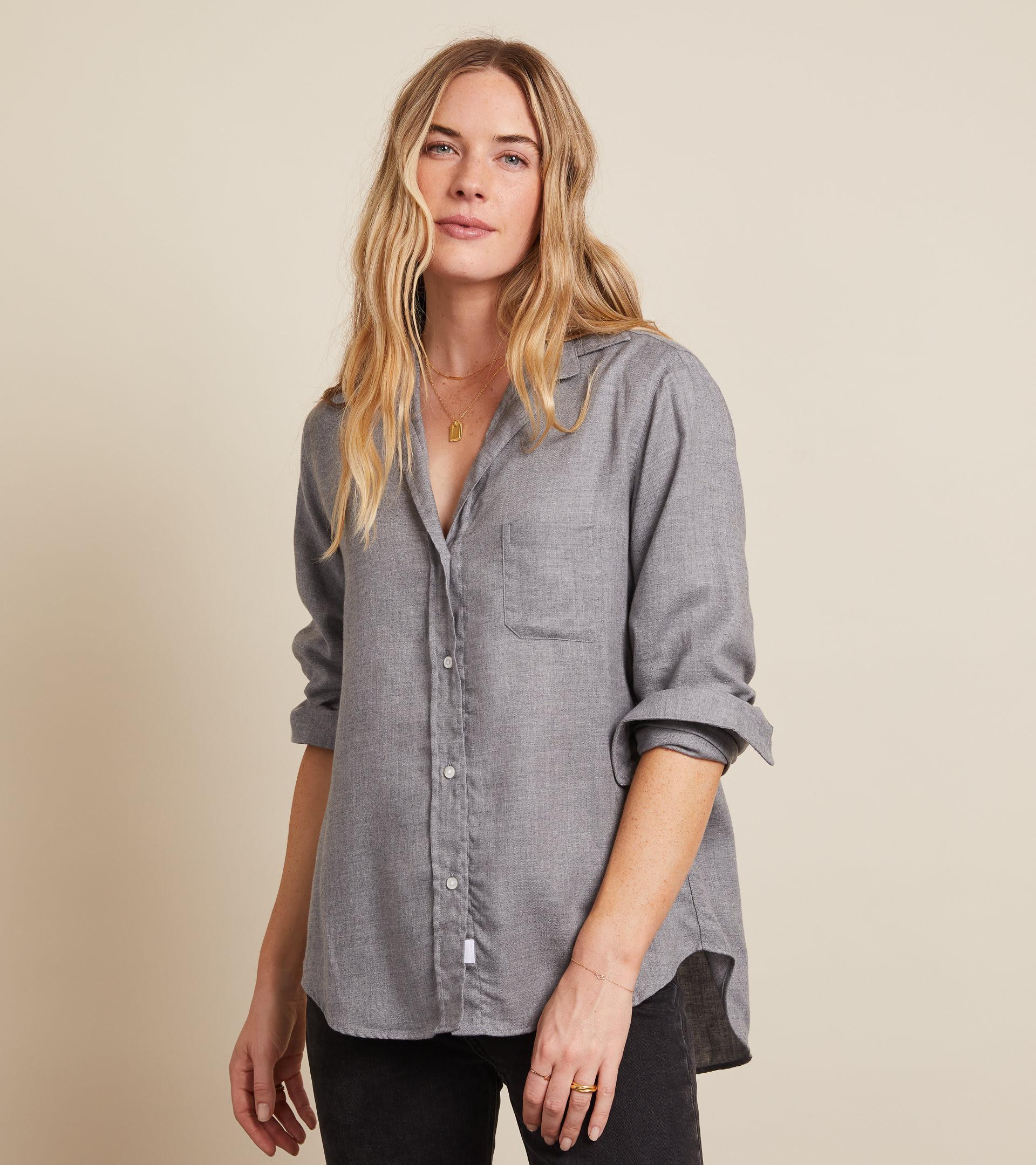 The Hero Button-Up Shirt Gray Melange, Liquid Flannel view 2
