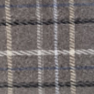 gray, blue, white and black plaid
