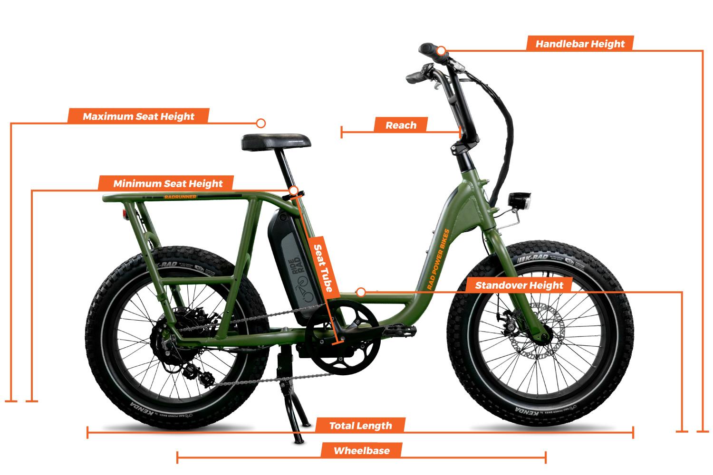 RadRunner Electric Utility Bike geometry