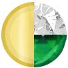 Emerald Green|Gold|White Diamondettes Swatch