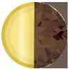Gold|Chocolate Swatch