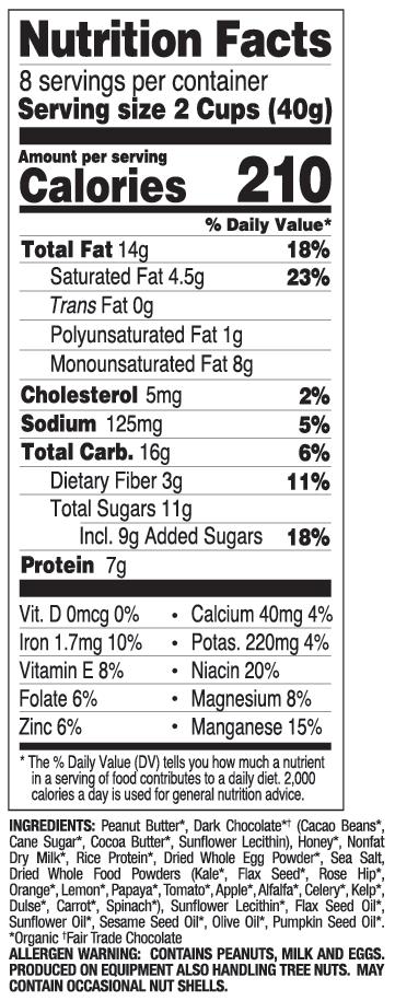 Dark Chocolate with Sea Salt nutritional information