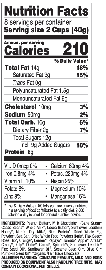 Milk Chocolate nutritional information