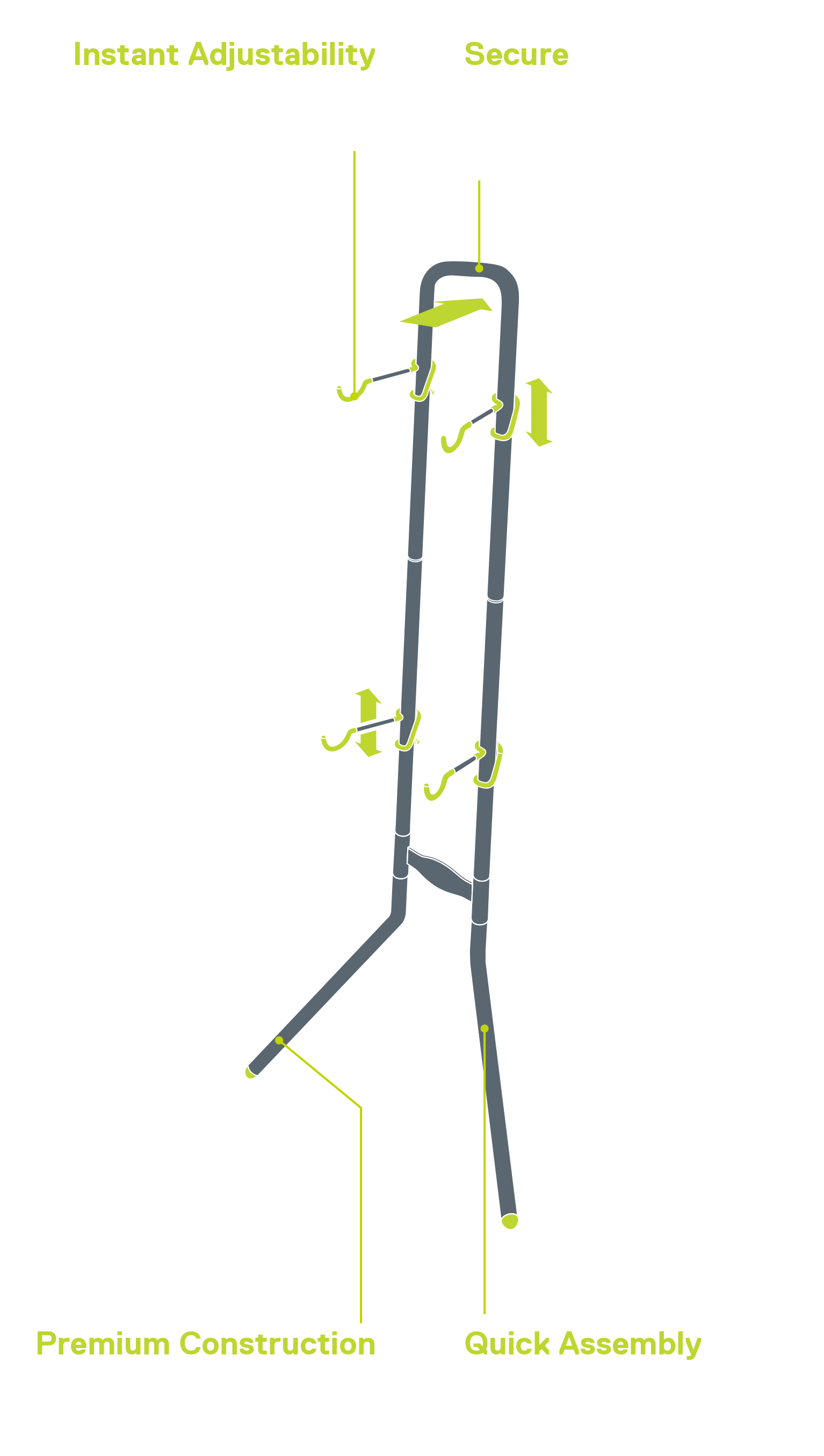 Two Bike Rugged Gravity Stand diagram