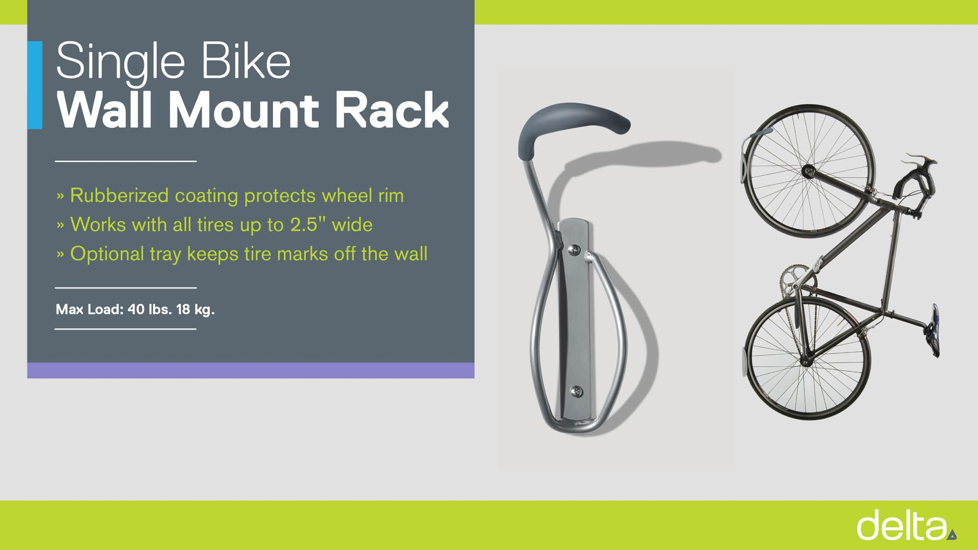 Single Bike Wall Mount Rack instructions