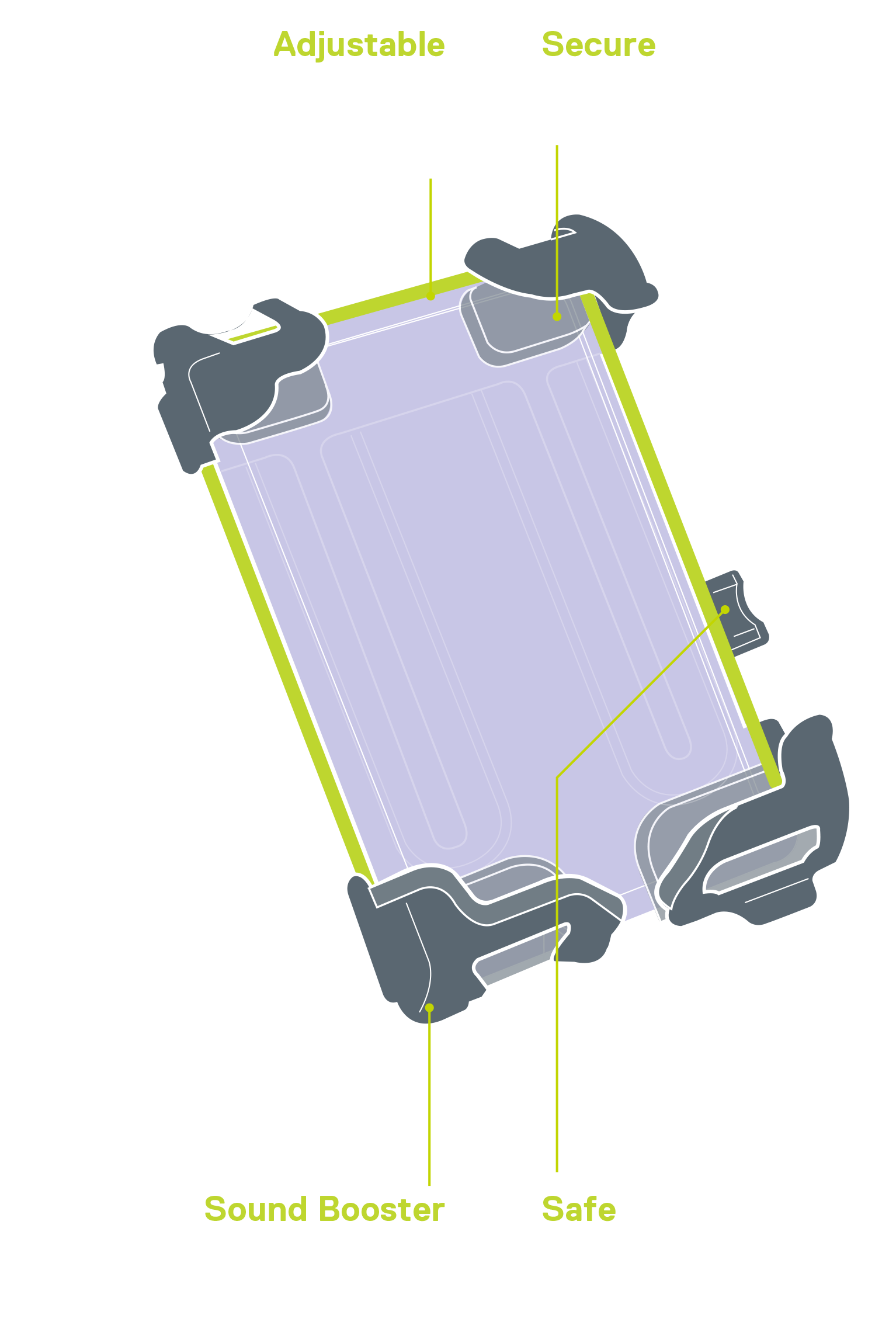 Hefty+ Phone Holder diagram