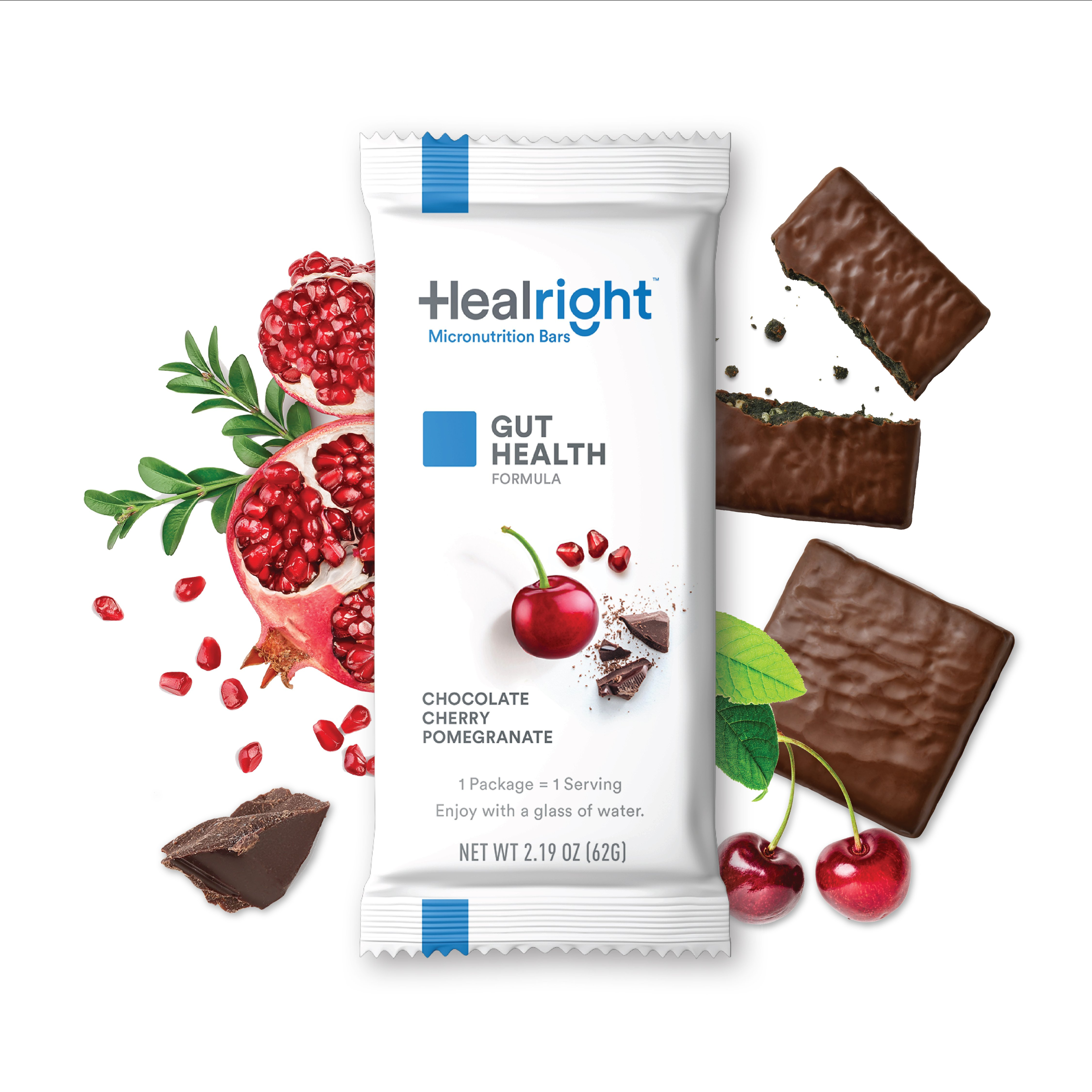 Healright Gut Health Daily with Chocolate Cherry Pomegranate flavor