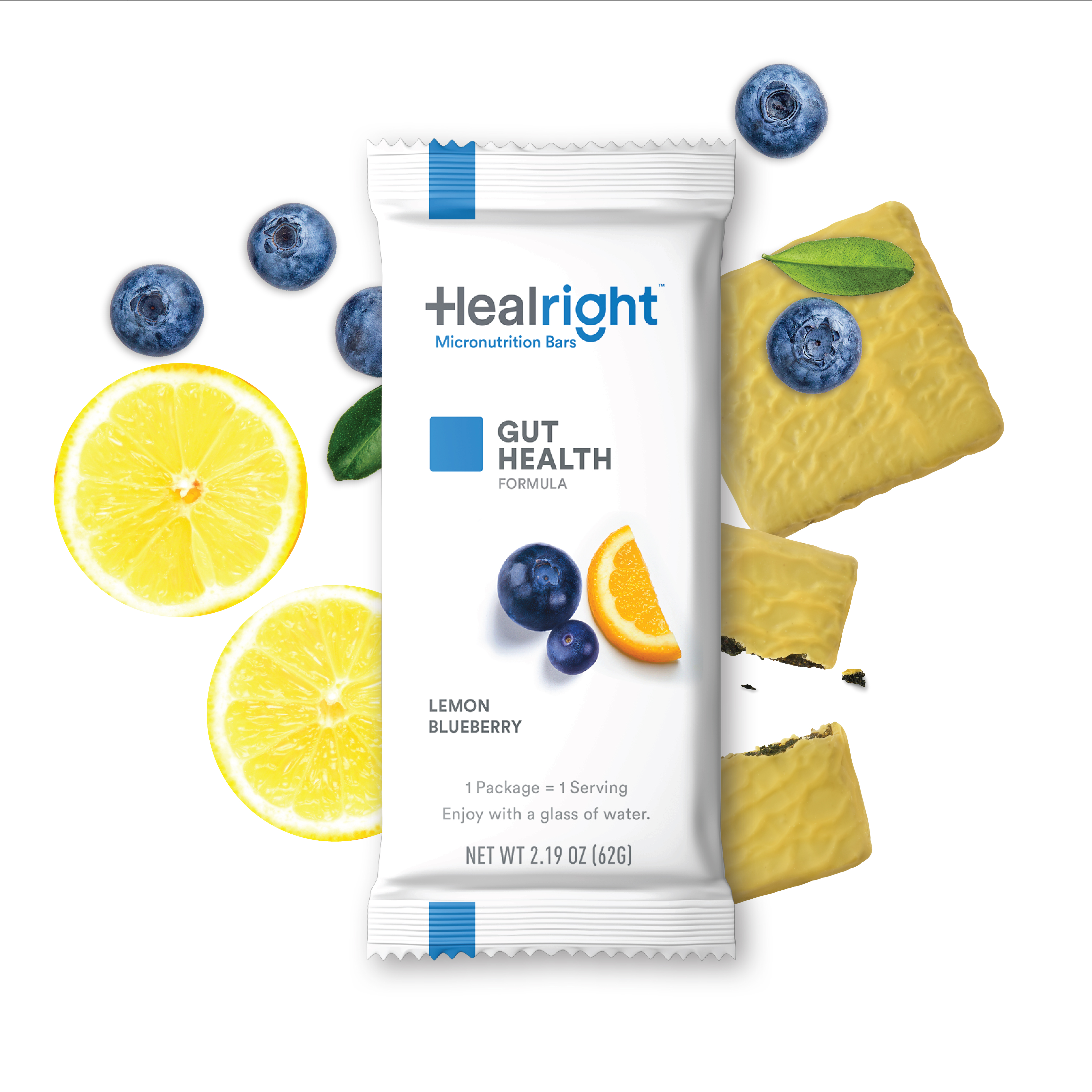 Healright Gut Health Daily with Lemon Blueberry flavor