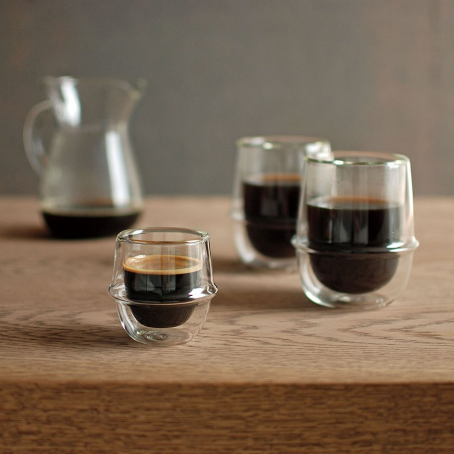 KINTO KRONOS DOUBLE WALL ESPRESSO CUP 80ML CLEAR