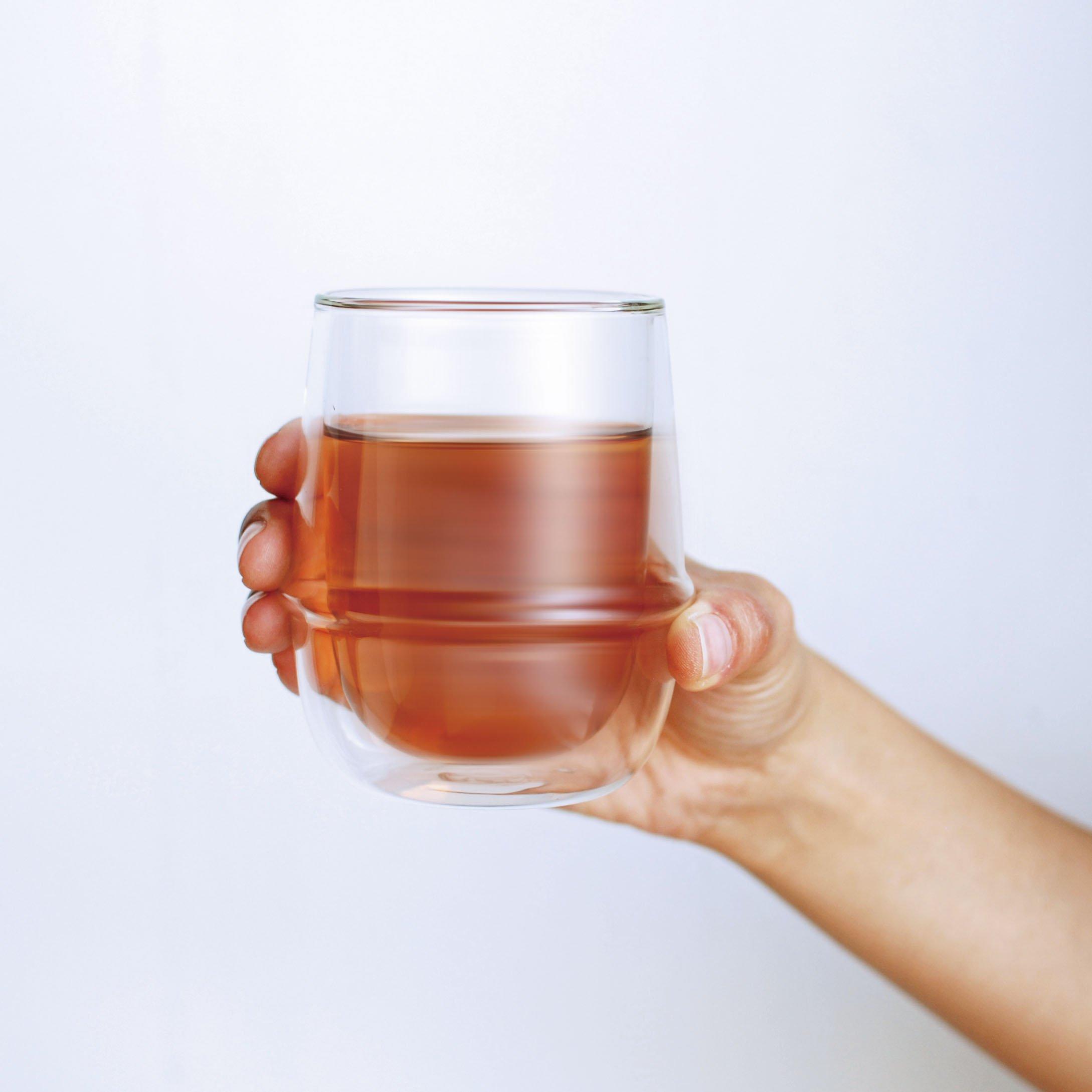 KINTO KRONOS DOUBLE WALL ICED TEA GLASS 350ML CLEAR THUMBNAIL 2
