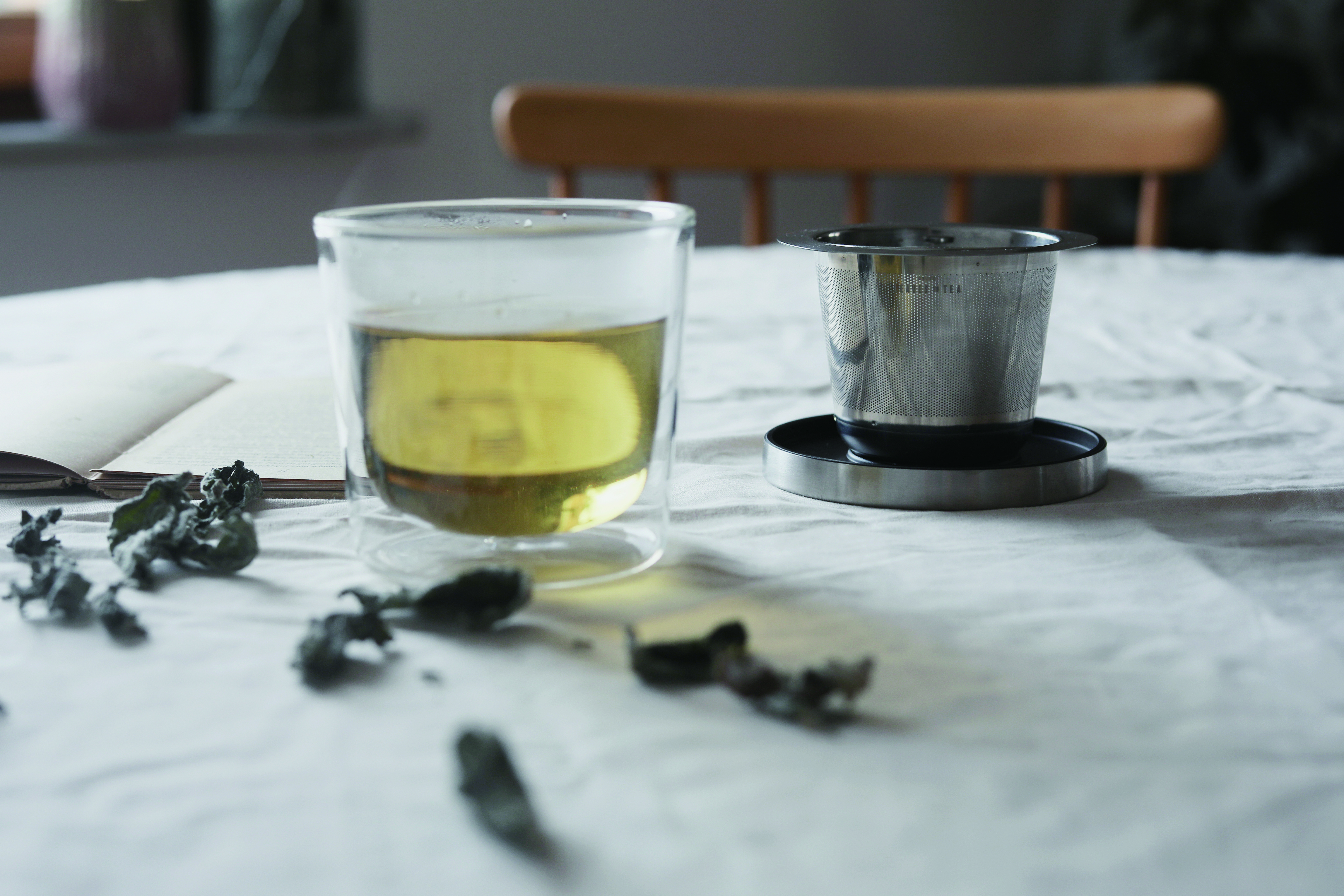 KINTO LEAVES TO TEA CUP WITH STRAINER 260ML CLEAR THUMBNAIL 2