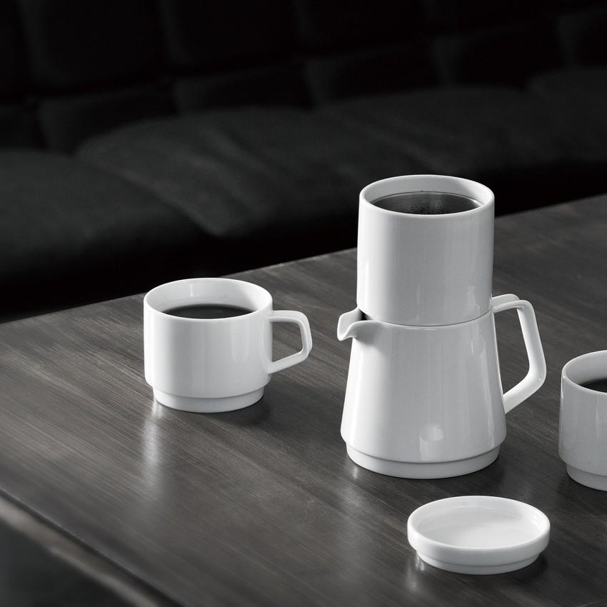 KINTO FARO COFFEE DRIPPER & MUG 230ML WHITE THUMBNAIL 1