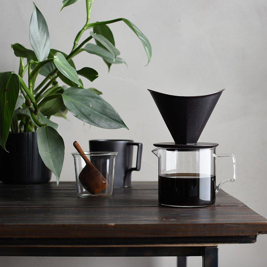 KINTO OCT COFFEE BREWER 4 CUP BLACK BLACK