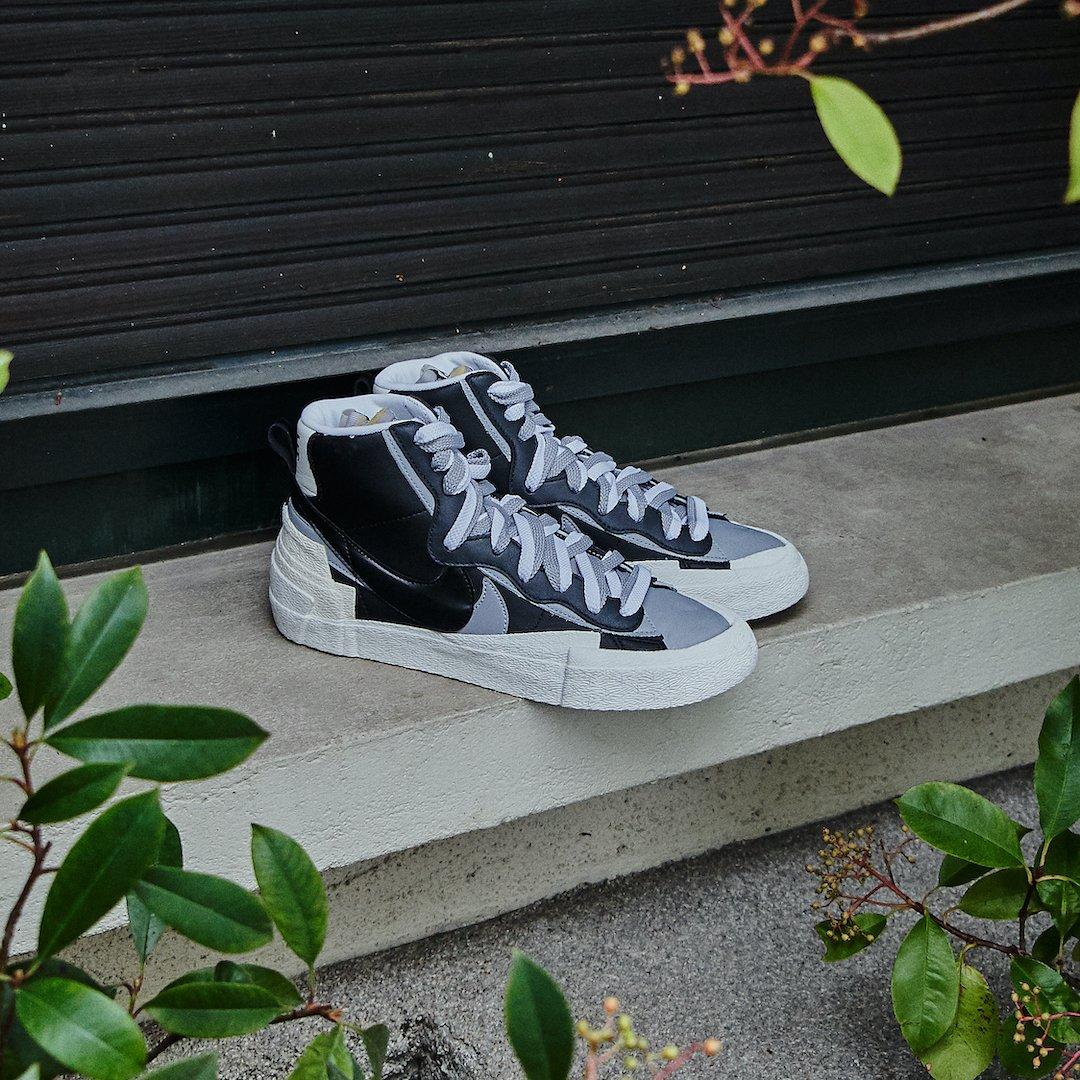 Nike Blazer High Sacai Black Grey