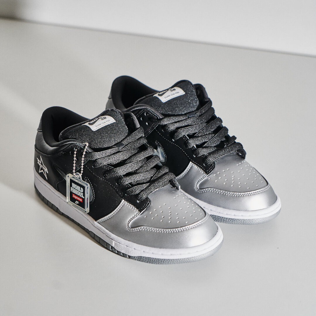 Nike SB Dunk Low Supreme Jewel Swoosh Silver - CK3480-001