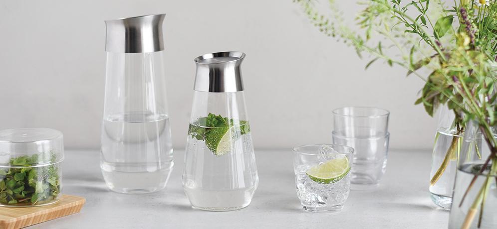 KINTO LUCE GLASS BOTTLE 750ML CLEAR