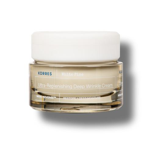 Korres TagescremeWhite Pine Meno Reverse™ Intensiv auffüllende Creme bei tiefen Falten für sehr trockene-dehydrierte reife Haut nach den Wechseljahren 1
