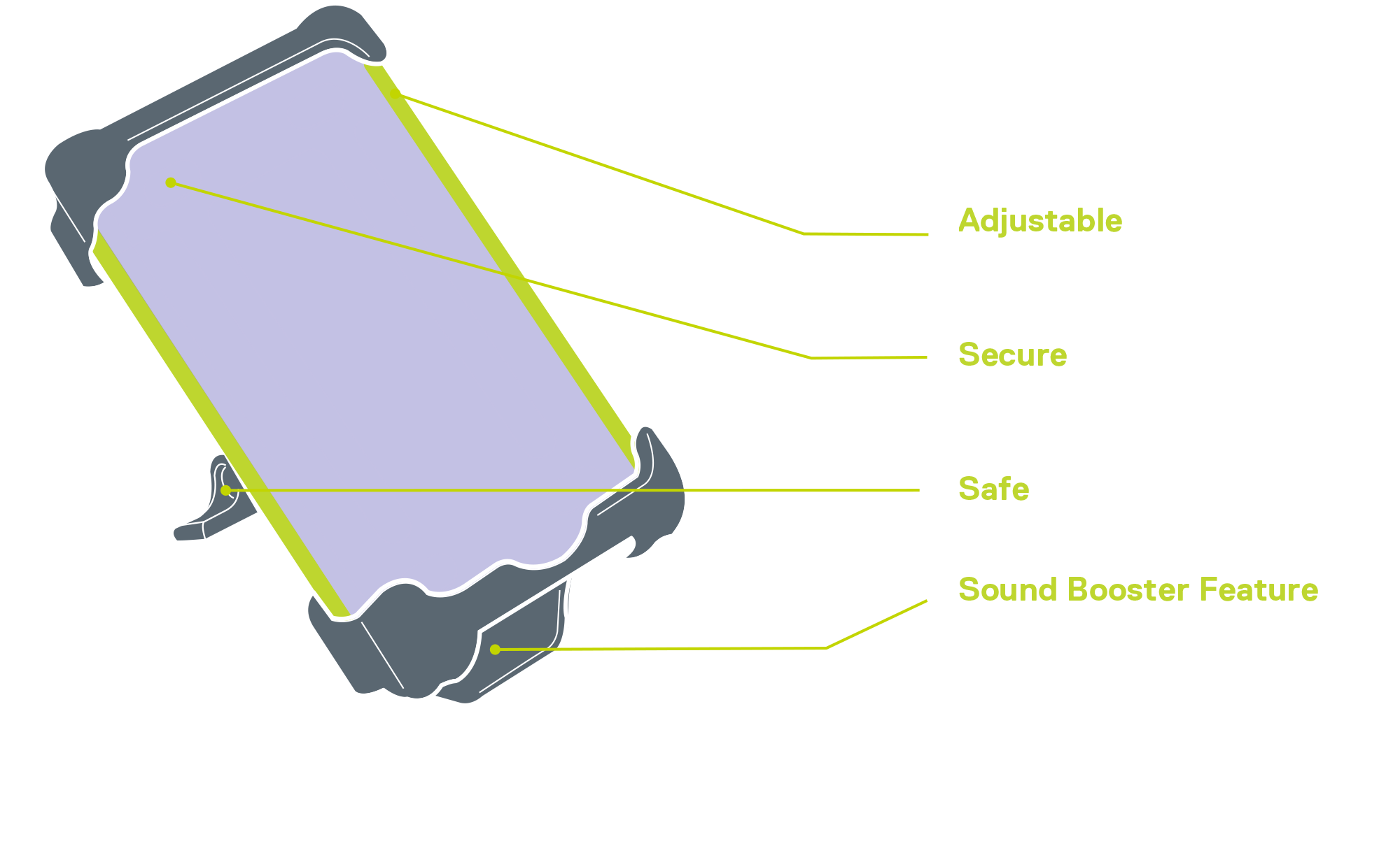 Smartphone Holder XL diagram