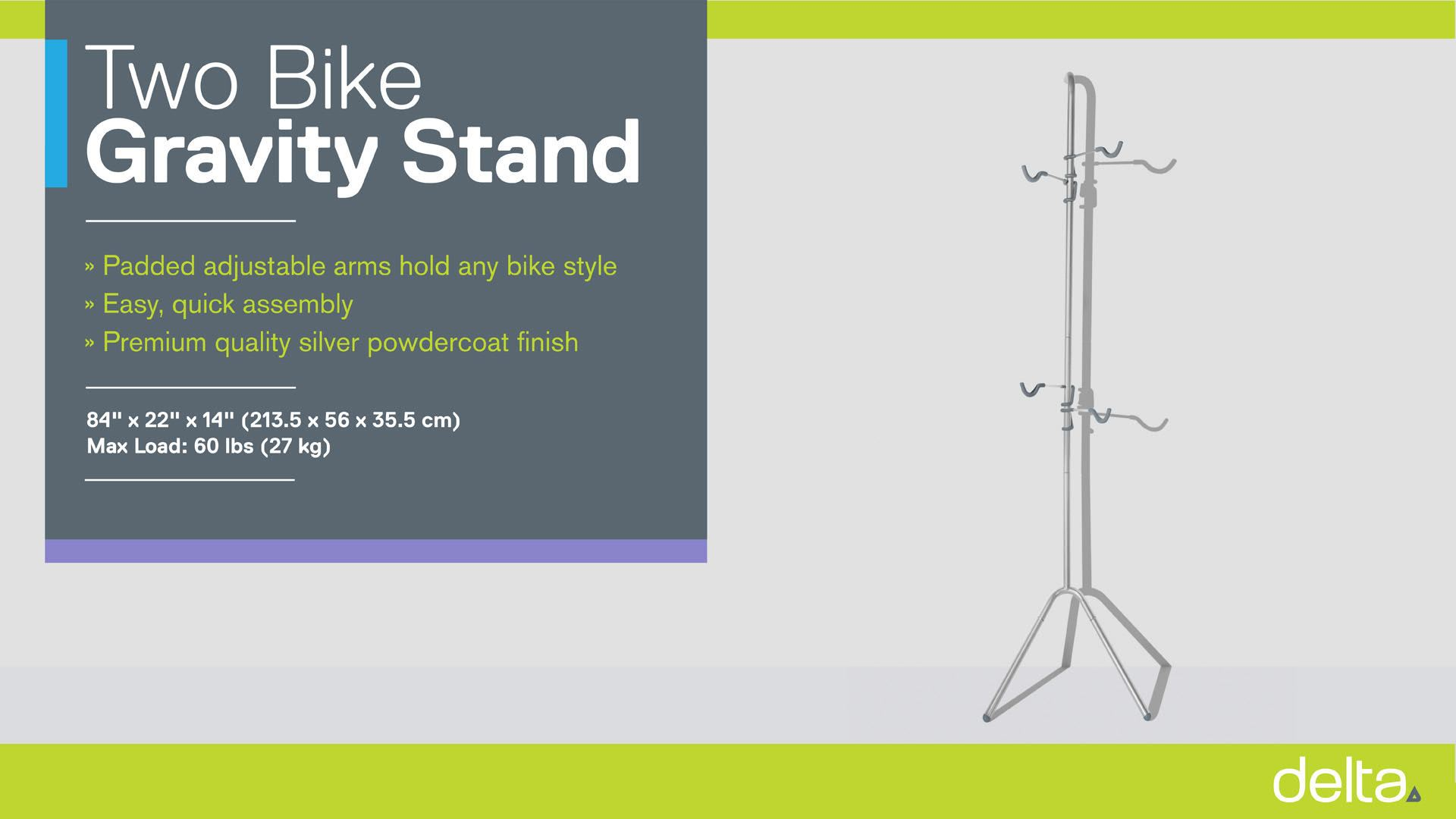 Two Bike Gravity Pole Stand instructions