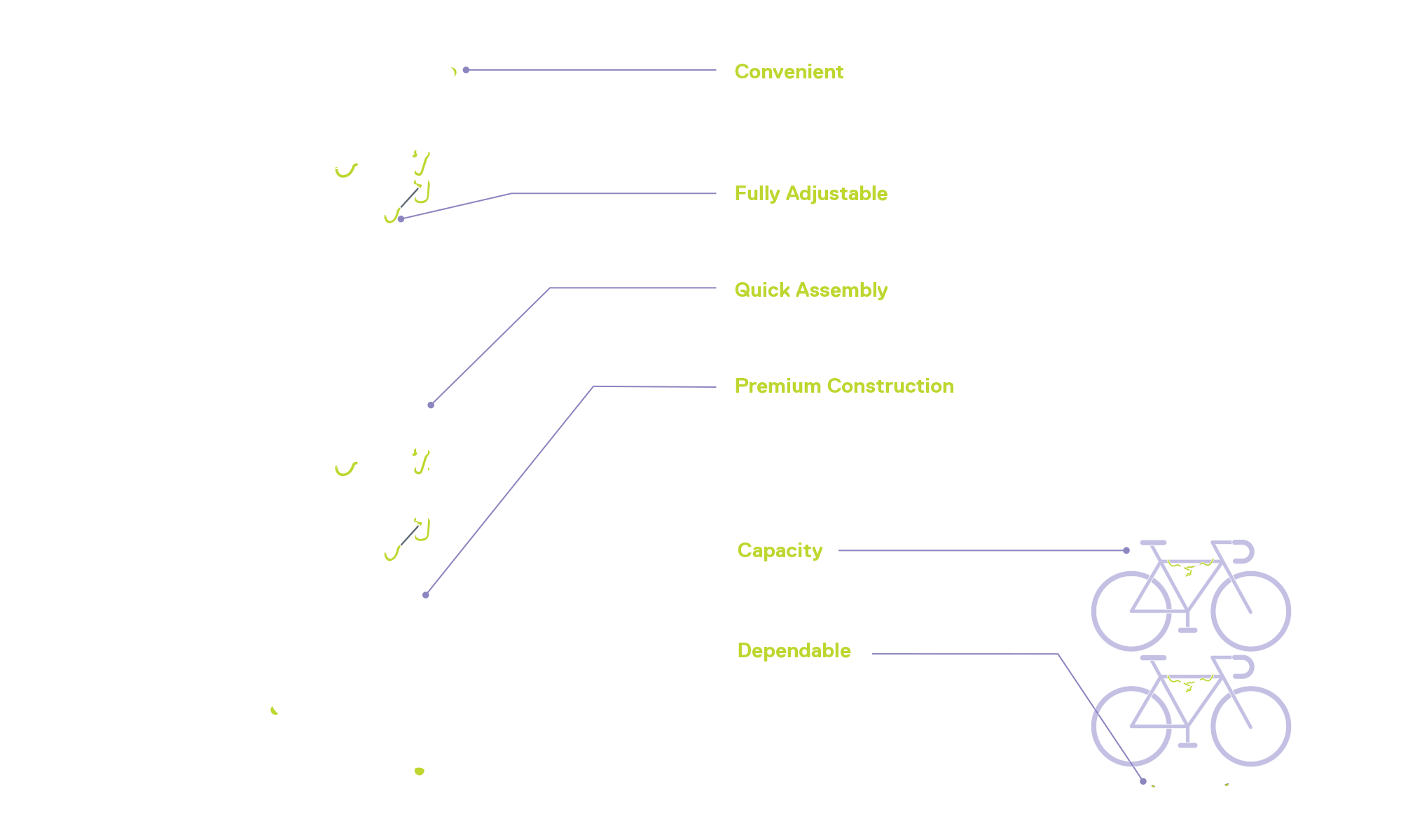 Two Bike Gravity Pole Stand diagram