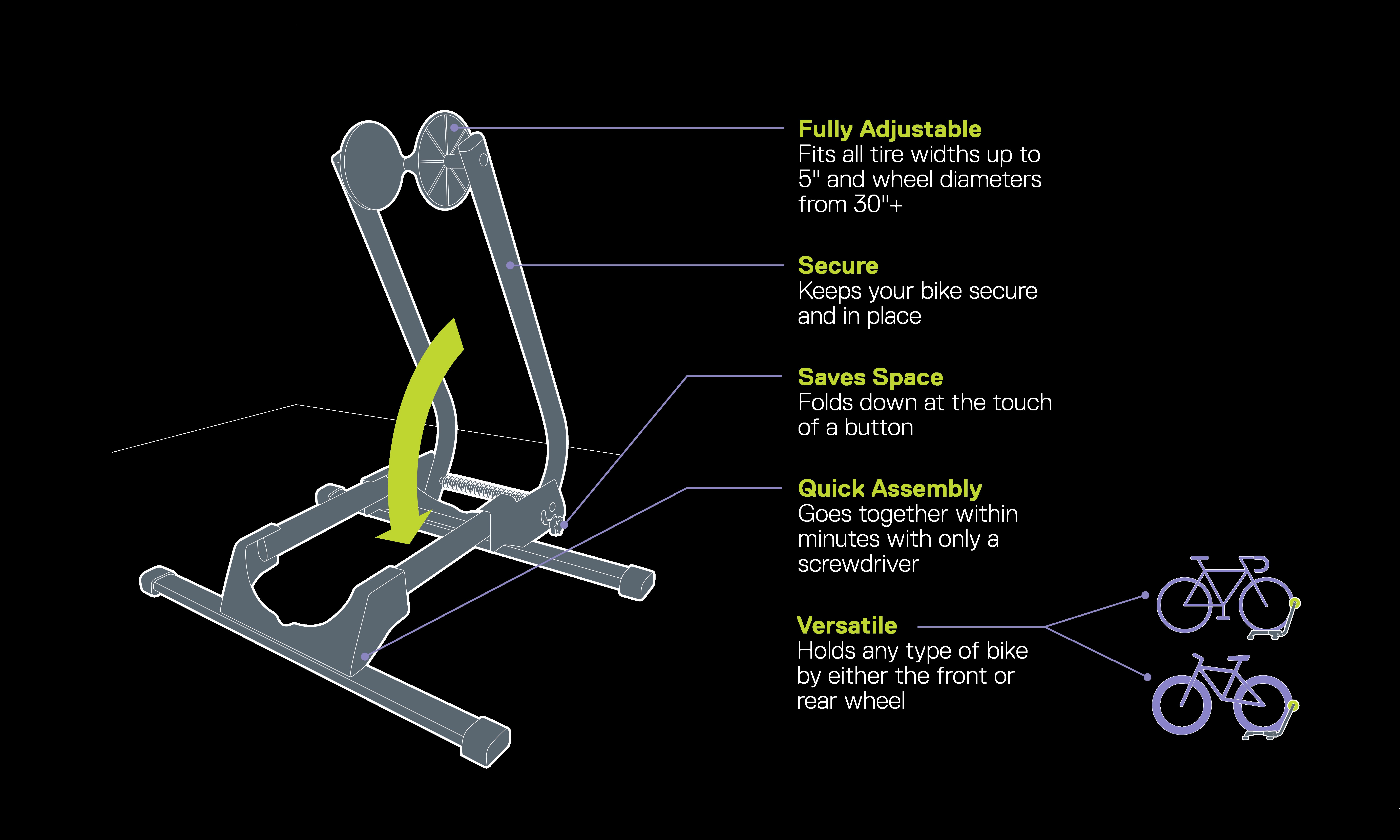 Adjustable Spring Floor Stand diagram