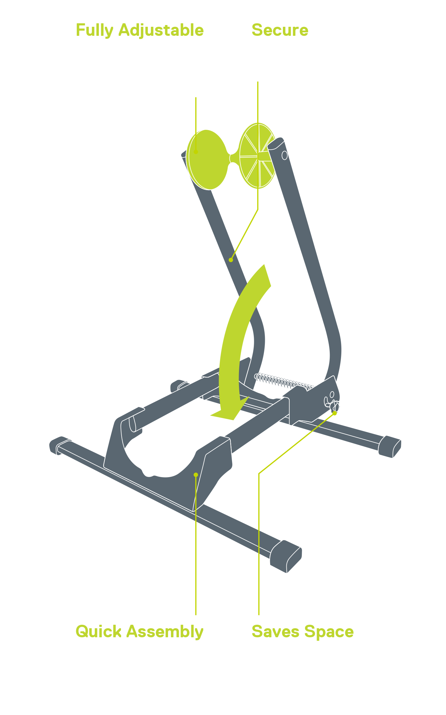 Adjustable Spring Floor Stand diagram