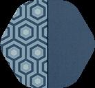 Navy Hex/Solid