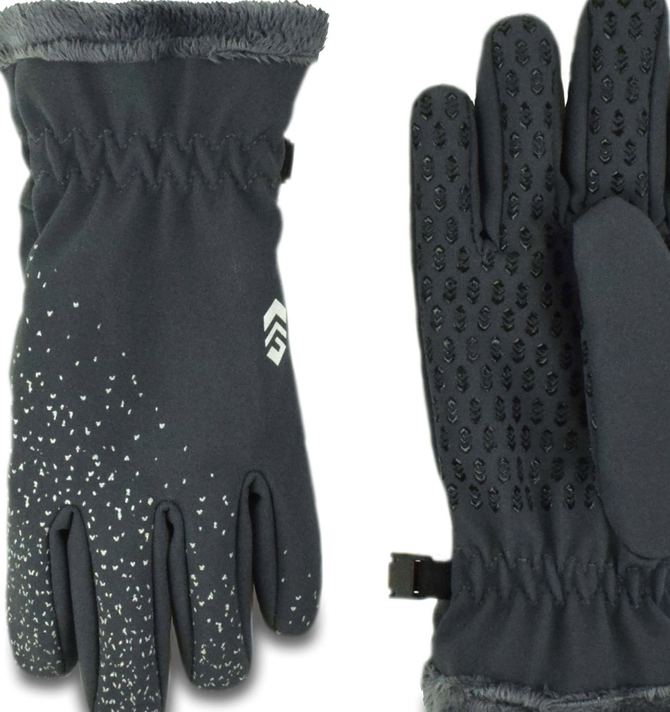 Girls' Solid Softshell Glove