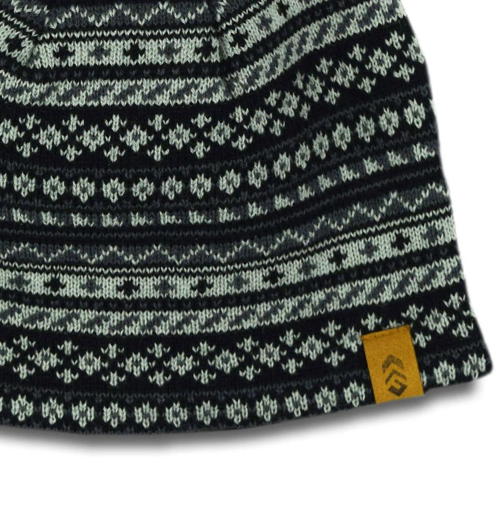 Men's Geometric Jacquard Knit Beanie