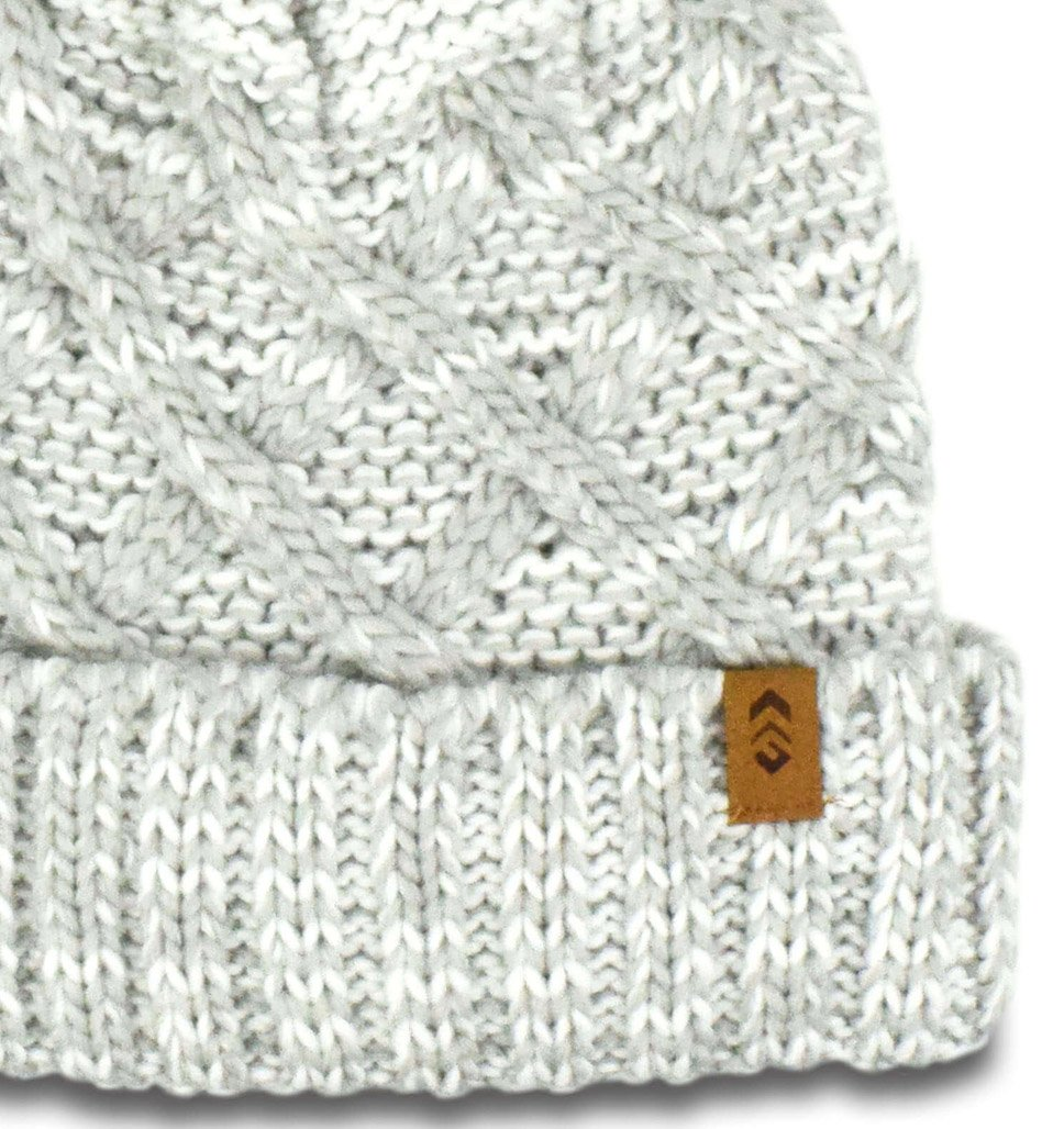 Women's Lattice Cable Knit Cuffed Beanie