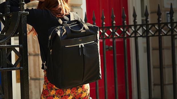 "KNOMO Chiltern Laptop Tote Backpack - 15.6"" Lifestyle Image |knomo.com"