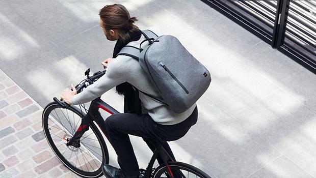 "KNOMO Harpsden Water-Resistant Laptop Backpack - 14"" Lifestyle Image |knomo.com"