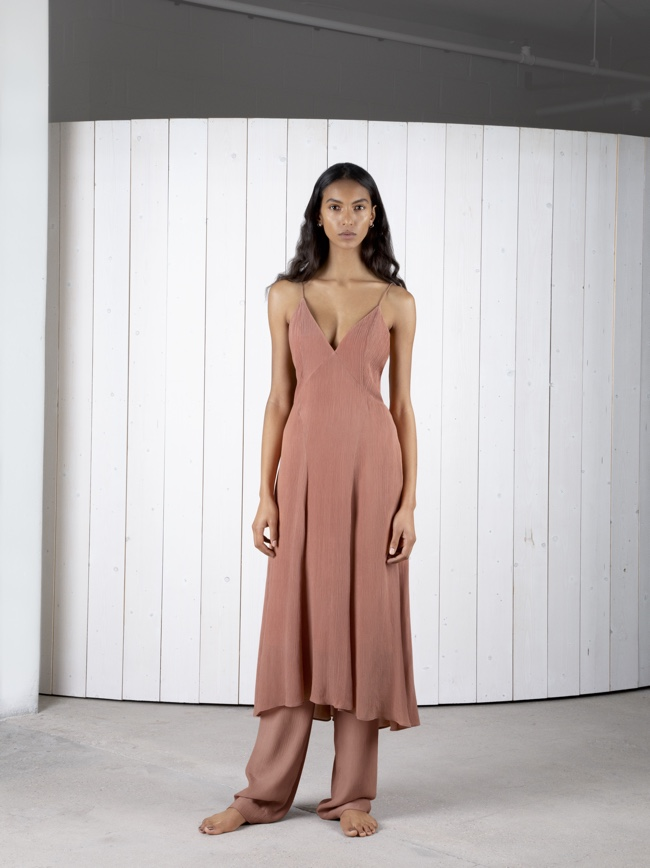 Celise Slip Dress Umber | Maia Trouser Umber
