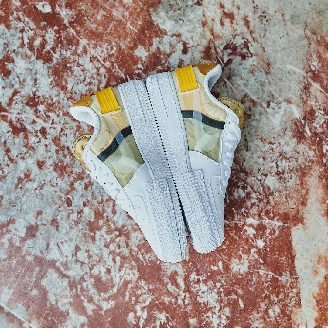Nike Air Force 1 Drop Type White Gold Yellow